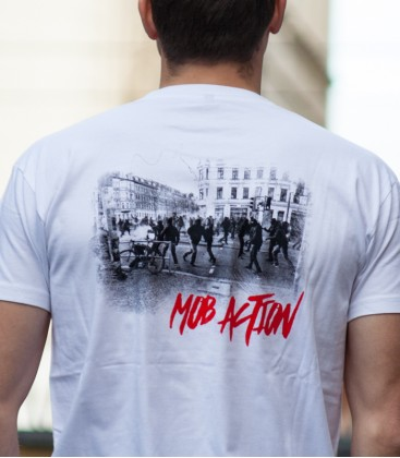 T-Shirt Riots Backprint Men weiß