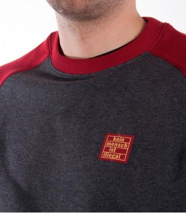 "Sweater ""Premium"" KMII grey-red"