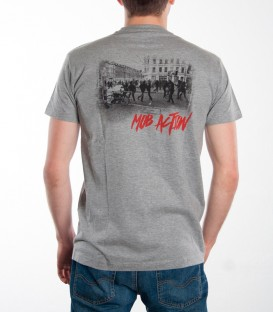 T-Shirt Riots Backprint grey