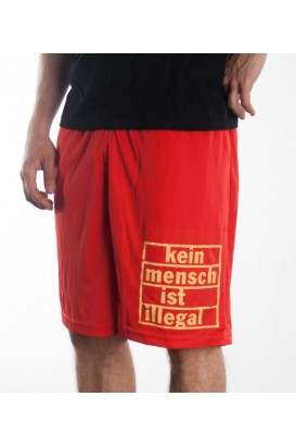 Shorts rot Kein Mensch ist illegal