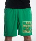 Shorts grün Kein Mensch ist illegal