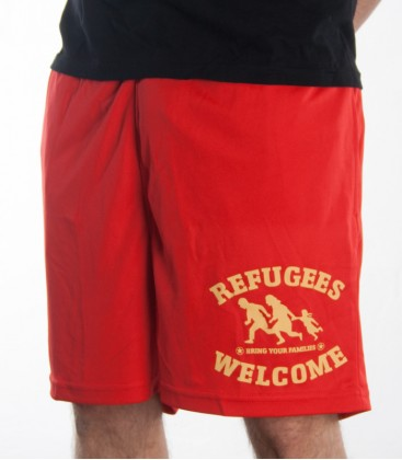 Shorts grün Refugees Welcome