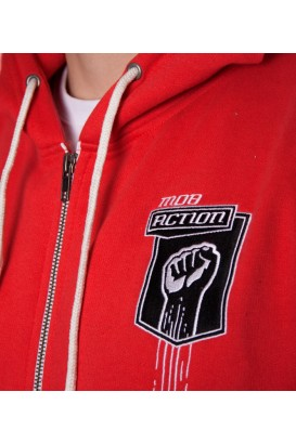 Zip- Hoodie RAISED FIST Men (Red)