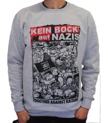 Sweater Kein Bock auf Nazis grey