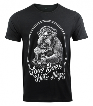 T-Shirt - Love Beer Hate Nazis