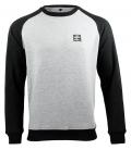 Sweater - Kein Mensch ist illegalI - grey-black