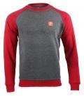 Sweater - Kein Mensch ist illegalI - grey-red