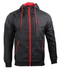 Jacket CONTRAST Men black/red