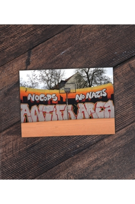 Postkarte - Connewitz  - Antifa Area