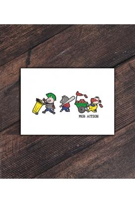 Postkarte - Riot Pigs