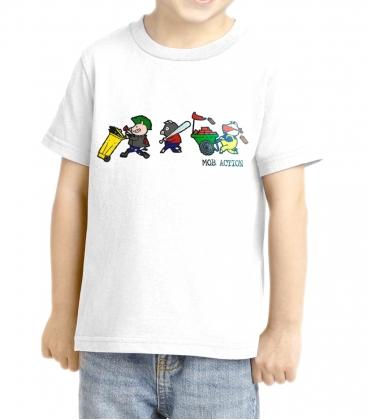 Riot Pigs - KIDS T-Shirt - weiß