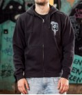 Zip- Hoodie RAISED FIST Men Black & Black