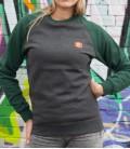 Sweater - Kein Mensch ist illegalI - Unisex - grey-green