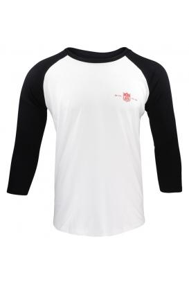 Unisex Baseball Longsleeve AFA - Red (white-black)