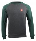 Sweater - Kein Mensch ist illegalI - grey-green
