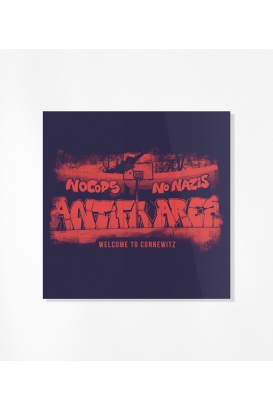 30 Sticker - Antifa Area - Blue/Red