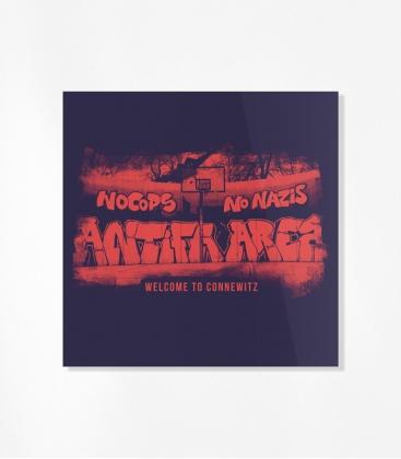 30 Sticker - Antifa Area - Blue/Red
