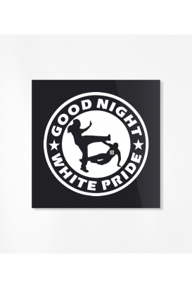 Sticker - Good Night White Pride (30 Stück)