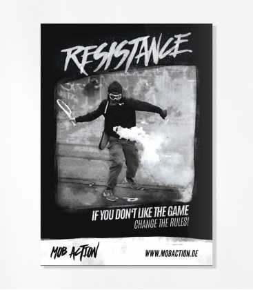 """Resistance"" 30 Aufkleber"