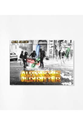 """Autonome Jediritter"" 30 Aufkleber"