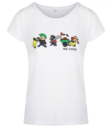 Riot Pigs - T-Shirt - weiß - tailliert