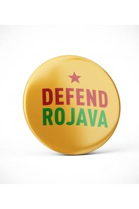 Defend Rojava - Yellow - Button