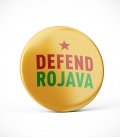 Defend Rojava - Yellow - Button