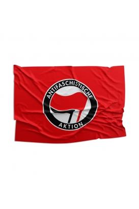 Fahne - Antifa (rot)