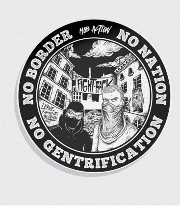 30 Sticker - No Gentrification