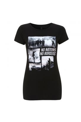 T-Shirt - tailliert - No Borders No Nations