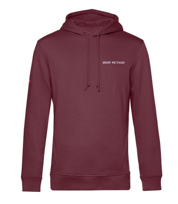 Hoodie - Mob Action CLASSIC - burgundy