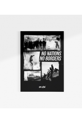 Poster - No Nations No Borders - A3
