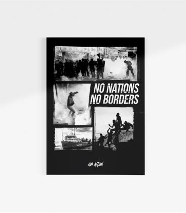 Poster - No Nations No Borders - A3