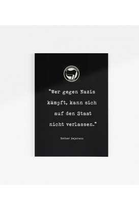 Poster -  Wer gegen Nazis kämpft
