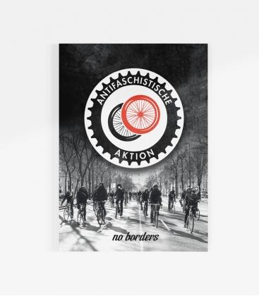 30 Sticker - Fahrrad Antifa