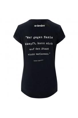 Shirt tailliert - Wer gegen Nazis kämpft