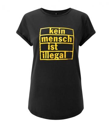 T-Shirt tailliert - Kein Mensch ist illegal