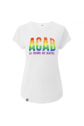 T-Shirts - ACAB - All Colours Are Beautiful - white - tailliert