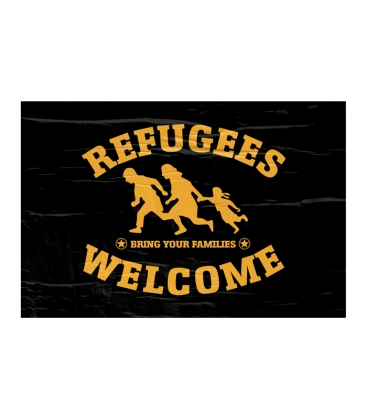 """Poster """"Refugees Welcome"""" - A3"""