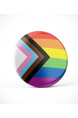 """Button """"Progress Pride"""""""